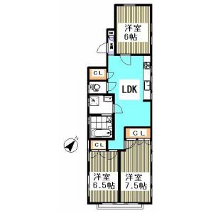 3LDK Mansion in Honcho - Nakano-ku Floorplan