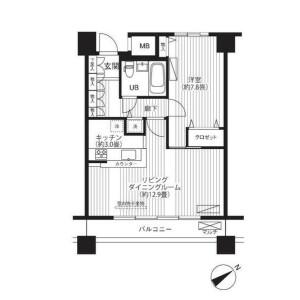 1LDK Mansion in Kaigan(3-chome) - Minato-ku Floorplan