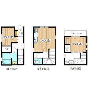 2DK House in Shintomi - Chuo-ku Floorplan