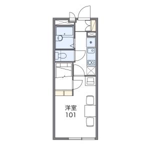 1K Mansion in Bijogi - Toda-shi Floorplan