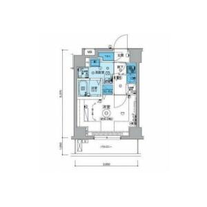 1K Mansion in Mutsumicho - Yokohama-shi Minami-ku Floorplan