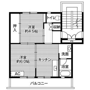 2DK Mansion in Imuracho - Matsusaka-shi Floorplan