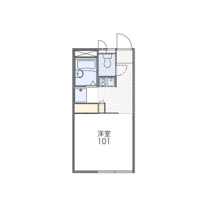 1K Mansion in Yoshino - Nagoya-shi Higashi-ku Floorplan