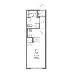 1R Apartment in Todoroki - Setagaya-ku Floorplan