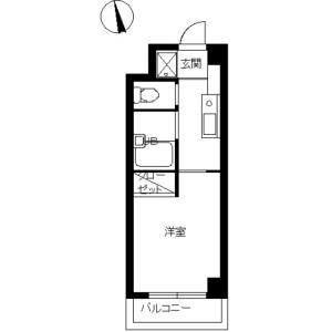 丰岛区目白-1K公寓大厦 楼层布局