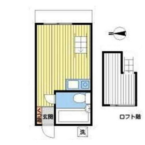 1R Apartment in Yoga - Setagaya-ku Floorplan