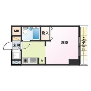 1R Mansion in Misakicho - Hachioji-shi Floorplan
