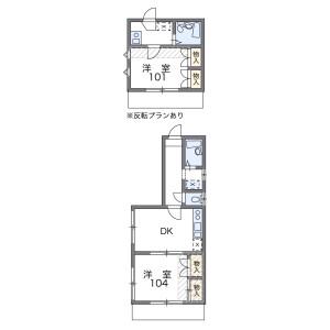 1K Apartment in Nakameguro - Meguro-ku Floorplan