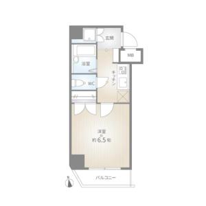 1K {building type} in Shimochiai - Shinjuku-ku Floorplan