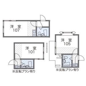 1K Apartment in Futago - Kawasaki-shi Takatsu-ku Floorplan