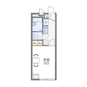 1K Apartment in Yoga - Setagaya-ku Floorplan