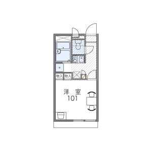 1K Apartment in Deyashiki motomachi - Hirakata-shi Floorplan