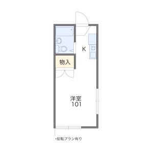 1K Apartment in Mozumemachi - Sakai-shi Kita-ku Floorplan