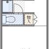 1K 아파트 to Rent in Fussa-shi Floorplan