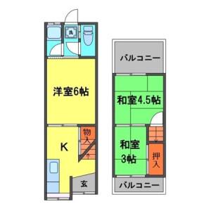 3K House in Amami minami - Matsubara-shi Floorplan