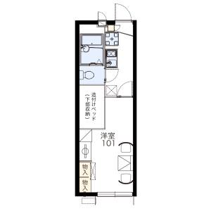 1K Apartment in Tsudayamate - Hirakata-shi Floorplan