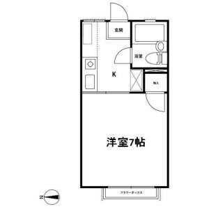 1K Apartment in Kurihara - Niiza-shi Floorplan