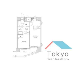 新宿區北新宿-1LDK公寓大廈 房間格局