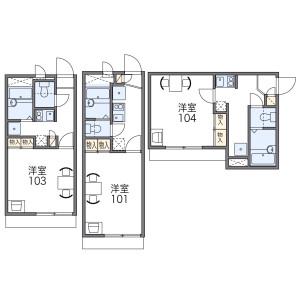 1K Apartment in Morishoji - Osaka-shi Asahi-ku Floorplan