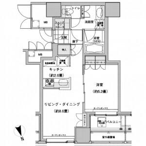 1LDK Mansion in Nishiikebukuro - Toshima-ku Floorplan