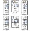 在府中市內租賃1K 公寓 的房產 房間格局