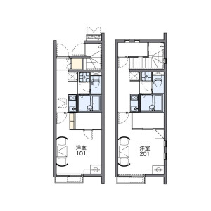 1K Apartment in Niihashi - Gotemba-shi Floorplan