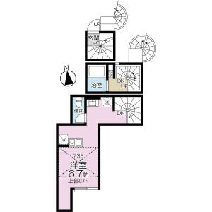 1R Apartment in Higashihorikiri - Katsushika-ku Floorplan