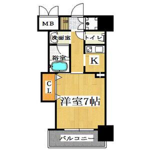 1K Mansion in Ikutama teramachi - Osaka-shi Tennoji-ku Floorplan