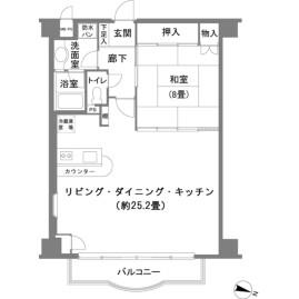 1LDK {building type} in Gora - Ashigarashimo-gun Hakone-machi Floorplan