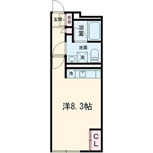 1R Mansion in Komazawa - Setagaya-ku Floorplan