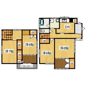 4DK House in Kiyokawacho - Choshi-shi Floorplan