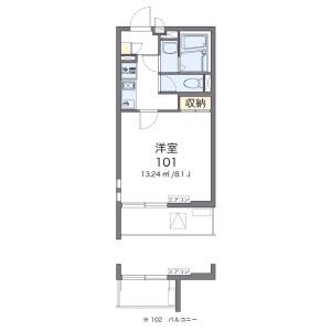 1K Mansion in Kiyokawa - Taito-ku Floorplan