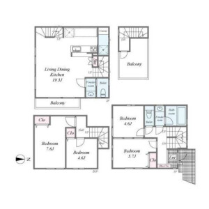 4LDK {building type} in Higashigotanda - Shinagawa-ku Floorplan