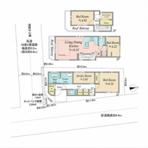 3SLDK {building type} in Kamitakada - Nakano-ku Floorplan