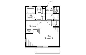 1R Apartment in Nishikigaoka - Yokohama-shi Kohoku-ku