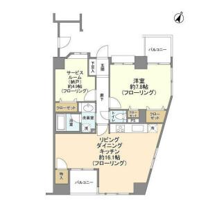 1SLDK Mansion in Hongo - Bunkyo-ku Floorplan
