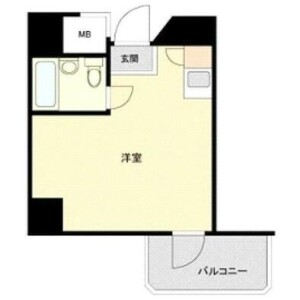1R {building type} in Hommachi - Shibuya-ku Floorplan