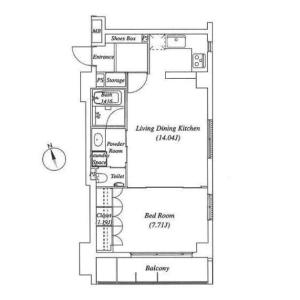 1LDK {building type} in Tomigaya - Shibuya-ku Floorplan