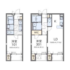 1K Mansion in Ogi - Adachi-ku Floorplan