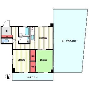 2DK Mansion in Shinjuku - Shinjuku-ku Floorplan