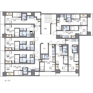 1K Mansion in Yaesu(2-chome) - Chuo-ku Floorplan