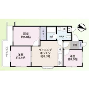 目黒区目黒-3LDK{building type} 楼层布局