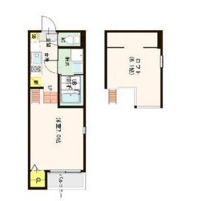 1K Mansion in Hanakawa - Osaka-shi Nishiyodogawa-ku Floorplan