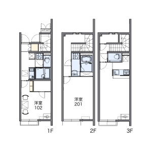 1LDK Apartment in Ayase - Adachi-ku Floorplan