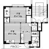 2K Apartment to Rent in Kakegawa-shi Floorplan