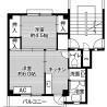 2K Apartment to Rent in Utsunomiya-shi Floorplan