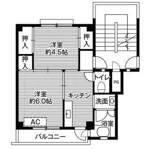2K Mansion in Tamado - Chikusei-shi Floorplan