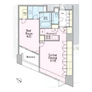1LDK 맨션 in Shimomeguro - Meguro-ku Floorplan