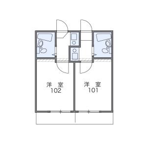 新宿區下落合-1K公寓大廈 房間格局