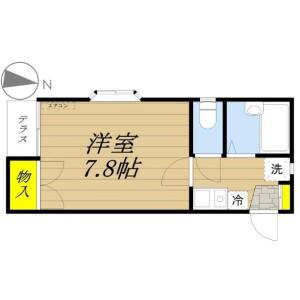 1K Apartment in Hommachihigashi - Saitama-shi Chuo-ku Floorplan